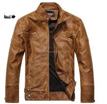 Men slim fit leather jackets cool coat leather motorcycle fleece jacket motorcycle