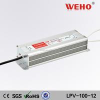 Manufacturer OEM 12v 100w power supply ac/dc led transformer 100w