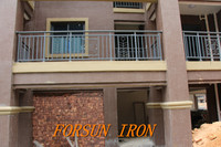 Nice indoor glass railing /wrought iron balcony railing/mild steel railing for staircase ISO9001 Factory