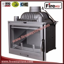 Fireway cast iron material different style insert wood fireplace