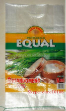 55*108cm factory customized plastic woven pp packaging maize grain bags 40kg 50kg