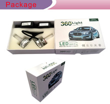 2015 hot selling !! 3 sides 360 Emitting Best quality super bright led headlight for car H4 H7 H11 H13 9004 9005 9006 9007
