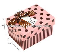 Custom Embossing Paper gift packaging box for platter