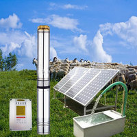 Small Centrifugal dc submersible water pump dc solar submersible pump price