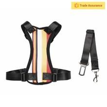 Adjustable Pet Dog Puppy Travel Vehicle Safety Seat Vest Belt Car Harness