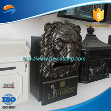 Alibaba wholesale oem factory China customized ISO 9001:2008 certificated aluminum craft parts apartment block mail box