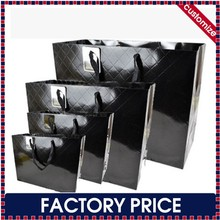 Factory price custom lamination glossy paper shopping bags with custom logo