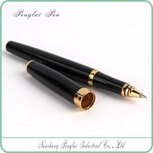 black color metal pen with logo engraved