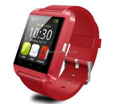 Golet factory price bluetooth smart watch u8, bluetooth smart watch mobile phone with multi-language