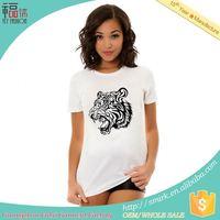 hot selling in usa fashion design printed lady t shirt dress t-shirt manufacturers in mumbai