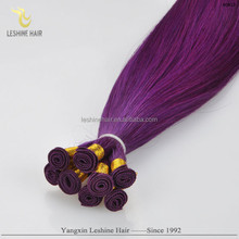 Aliexpress Good Feedback Private Label Best Price Top Quality Double Drawn No Shedding No Tangle hair weave purple