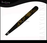 Eye Brow Tweezers Black Color Manicure Instruments
