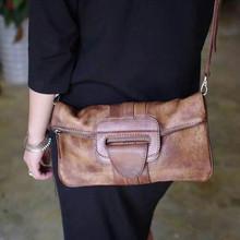 Hot Ladies Safari Bags Orange Genuine Leather Tote Bag hand bag