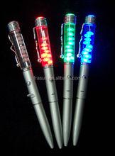 CUSTOM LED liquid pen/LED floating pen/led light liquid ballpoint pen