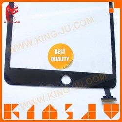 100% tested best quality for APPLE IPAD Mini 3 Digitizer Touch Screen with IC, home button flex Assembly Replacement