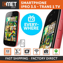 "SMARTPHONE IPRO 3.5 - TRANS 1 TV - 4GB - DUAL CORE - 3.5"" DISPLAY - DUAL CAMERA - DUAL SIM - WIFI - BLUETOOTH - ANDROID"