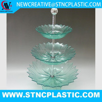 clear plastic decoration 3 tier fruit tray