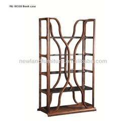 Newland modern furniture bend wooden book case(NL-W338)