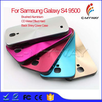 Various Colors Brushed Aluminium + PC CD Metal Effect Hard Back Shiny Cover Case Bumper Case For Samsung Galaxy S4 i9500