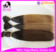 Wholesale Factory price T color ombre human hair bulk 100% remy human hair extensions raw hair