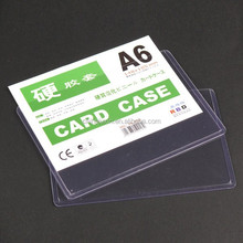 Made in China A4 PVC document business card hard case