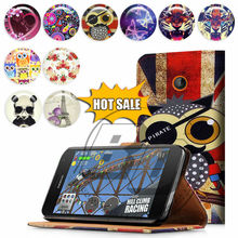 For Nokia Lumia 730 High Quality Print Card Holder Flip PU Folio Wallet Leather Case Cover Moible Phone Csae