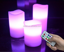 Best selling LED wax candles with color changing