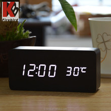 Factory direct china very cheap gift items wooden table clock for bedroom decoration