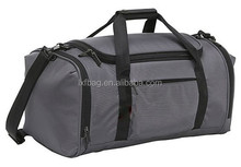 High quality top zipper closed men travel duffel bag with shoulder strap