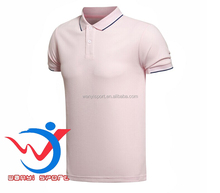 pink new fashion design mens t shirt polo manufacturer