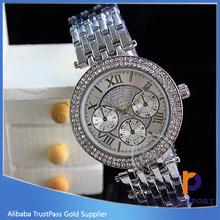 japan movt quartz watch diamond stainless steel, Branded wrist watch
