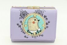 Brede Bird Clutch Checkbook Change Coin Bag Women Purse Ladies Handbag Wallet