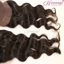 homeage fashion hair nets natural curly hair extensions invisible part closure