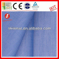 various breathable wicking blue stripe shirt fabric