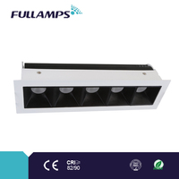15W fixed square under cabinet led light with brand chip and driver, high CRI and power factor