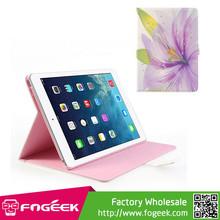 Fast Shipping Sparkling Rhinestone Purple Blossom Smart Awakening Leather Case for iPad Air 2