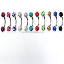 barbell baa fake eyebrow piercing jewelry