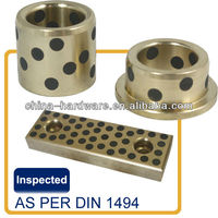 DIN9834 bushing oiless self-lubricated bronze bushing / auto industry mold parts of guide post and oilless bush