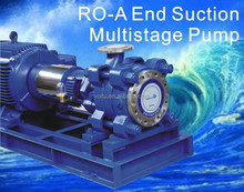 End suction multiple-stage pump