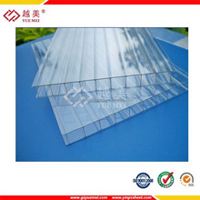 construction polycarbonate solid hollow transparent plastic roof with UV Coating high quality