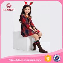 Custom girls seamed flower socks,multi-color cotton socks provided