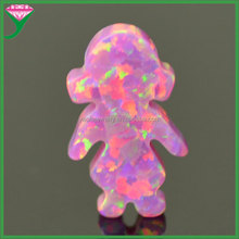 OP22 Rose pink lab created synthetic fire little girl opal ethiopian opal price per gram