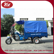 Guangzhou KAVAKI new design blue motorized passenger tricycle with cabin
