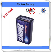 2015 Chinese factory promotion rectangle metal mint tin box, mint container
