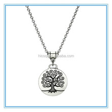 2015 hot selling popular fashion stainless steel tree of life Pendant