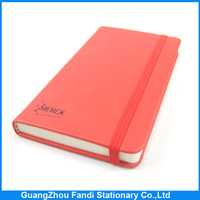custom pu leather notebook diary covers design for school with elastic