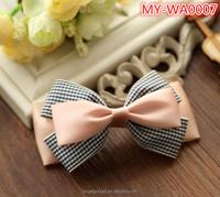 Bulk fancy Simple version plaid big bow hair accessories MY-IA0007