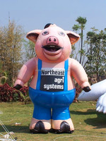 NB Pink Customized inflatable pig for advertising