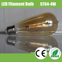 Amber Vintage Cylinder LED Filament Glass Edison Led Filament Lamp