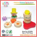 brinquedos baratos da china palhaço de madeira empilhador de brinquedos